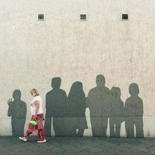 crowded wall