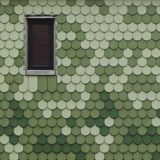 8350 grüne Tonziegel. Einfamilienhaus. Pankow.