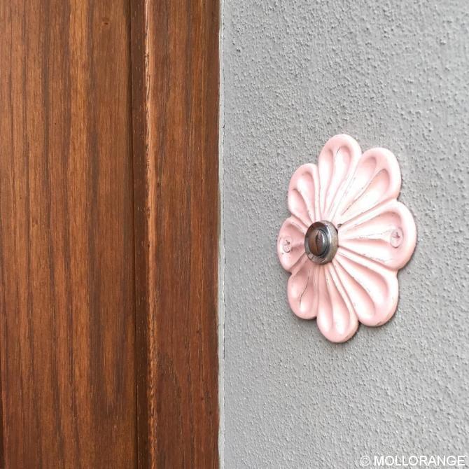 Türklingel, floral, rosa.